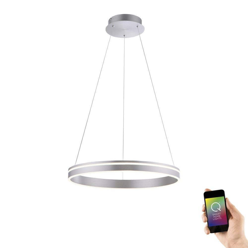 Hanglamp Q-Vito 59cm Staal Smart Home