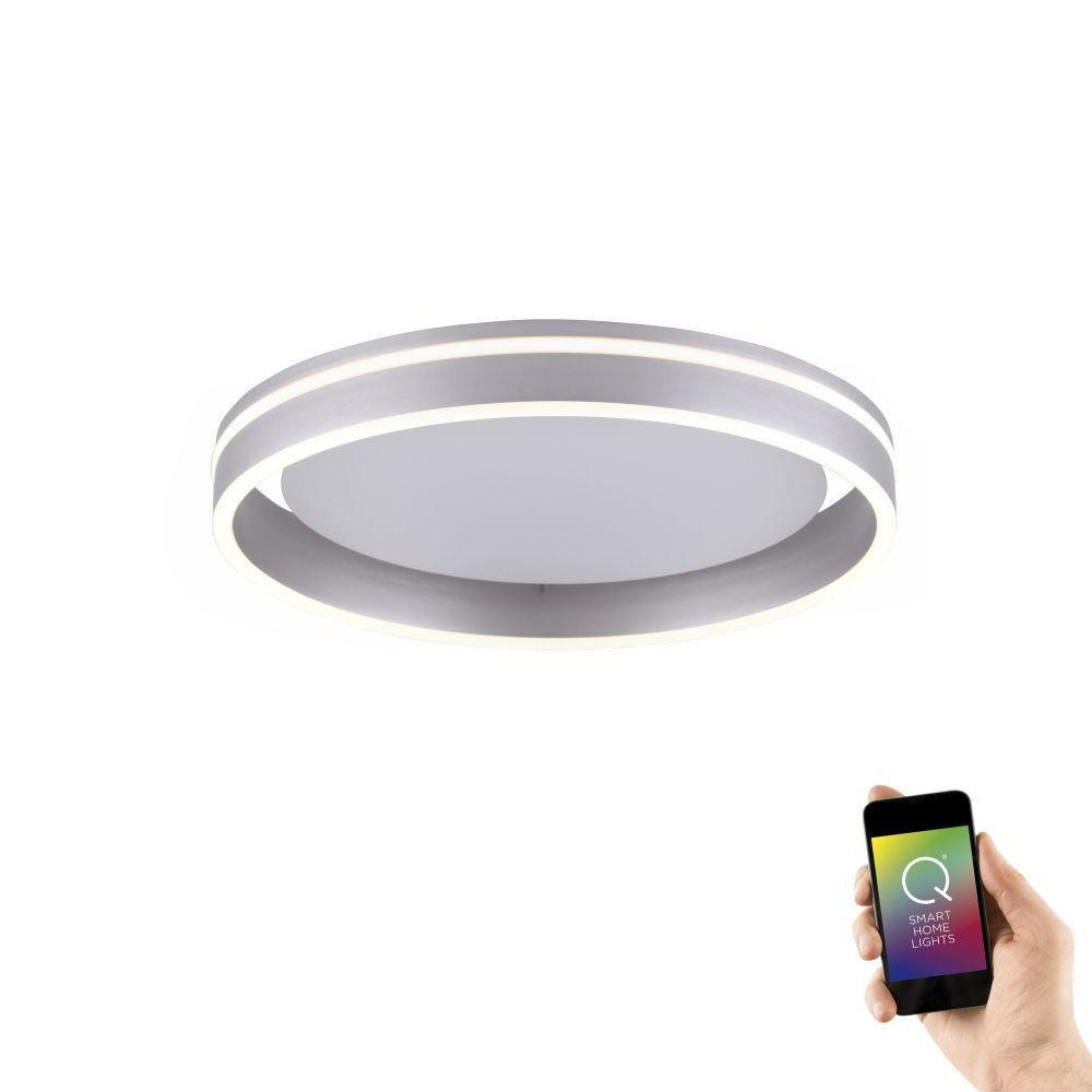 Plafondlamp Q-Vito 40cm Staal Smart Home