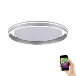 Plafondlamp Q-Vito 59cm Staal Smart Home