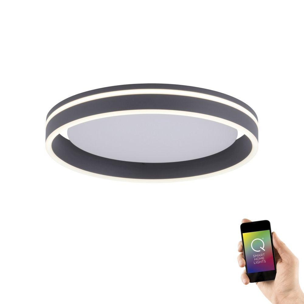 Plafondlamp Q-Vito 40cm Antraciet Smart Home
