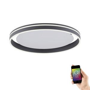 Plafondlamp Q-Vito 59cm Antraciet Smart Home