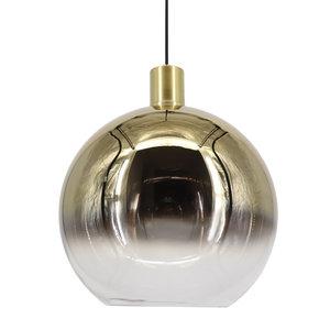 Artdelight Hanglamp Rosario Glas Goud & Helder 40cm