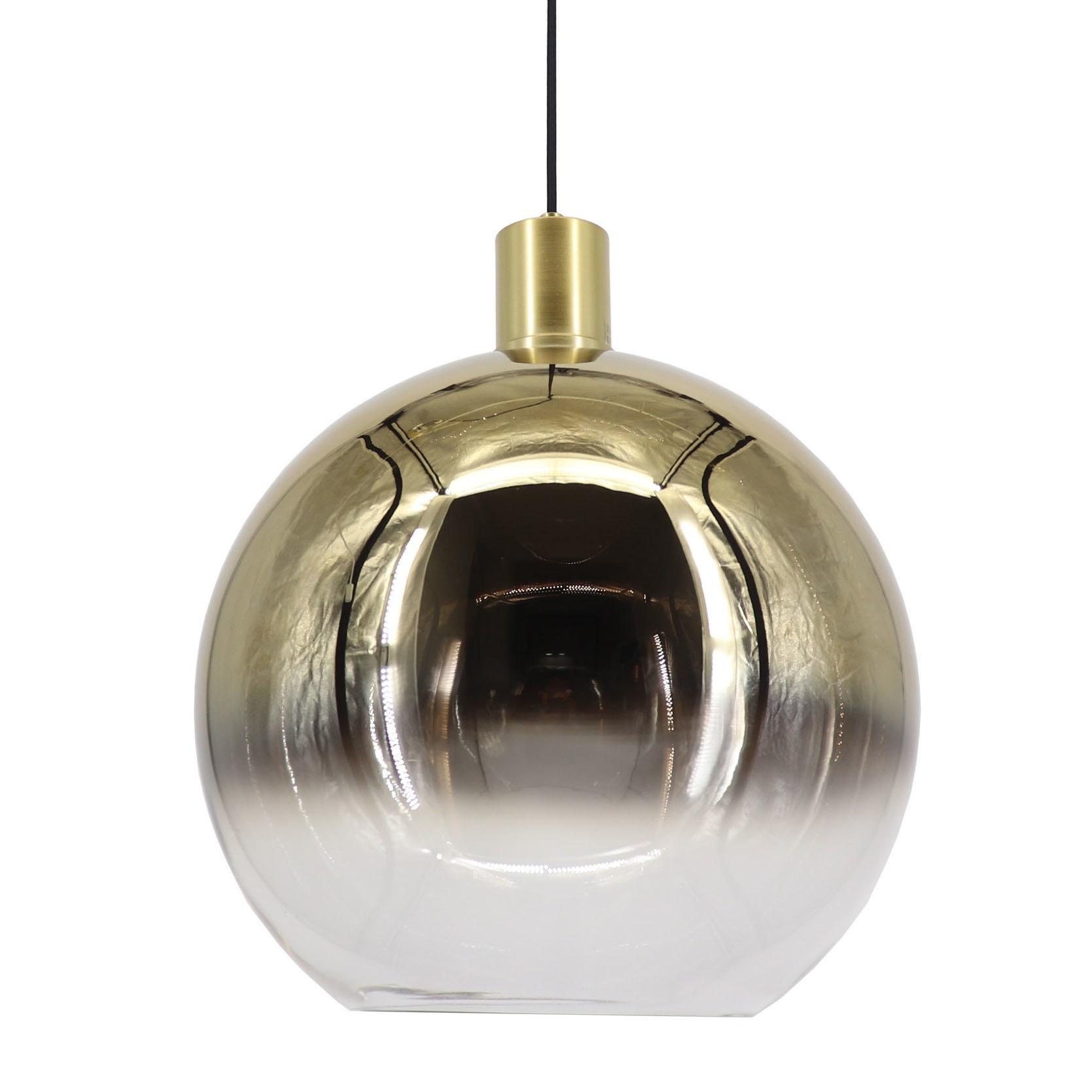 Artdelight Hanglamp Rosario Glas Goud Helder 40cm