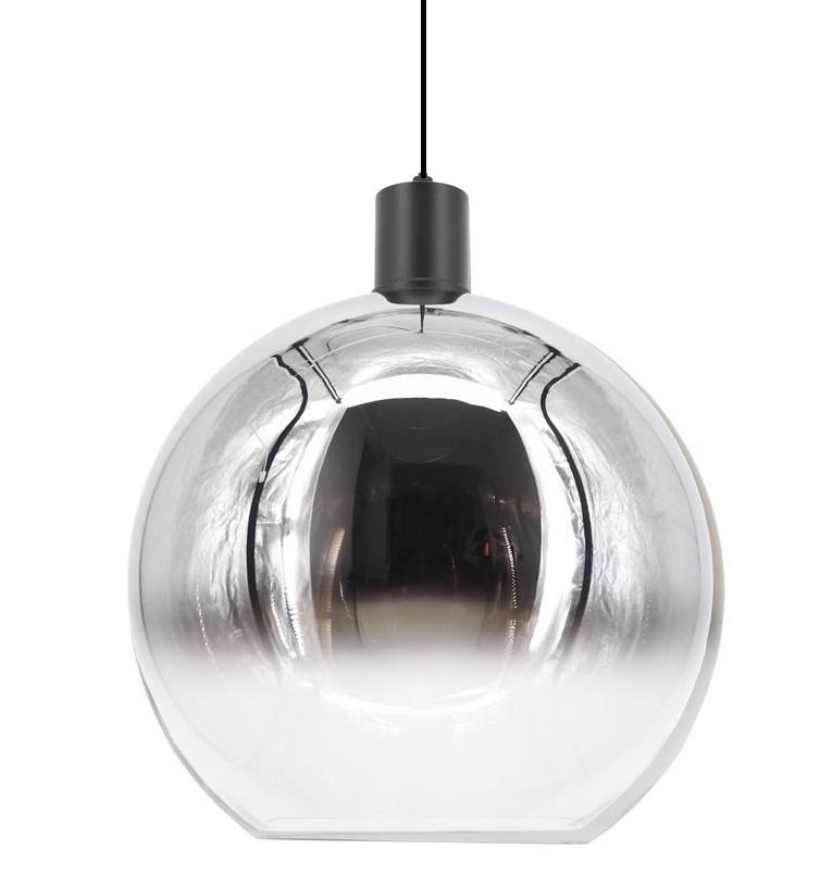 Artdelight Hanglamp Rosario Glas Chroom Helder 40cm