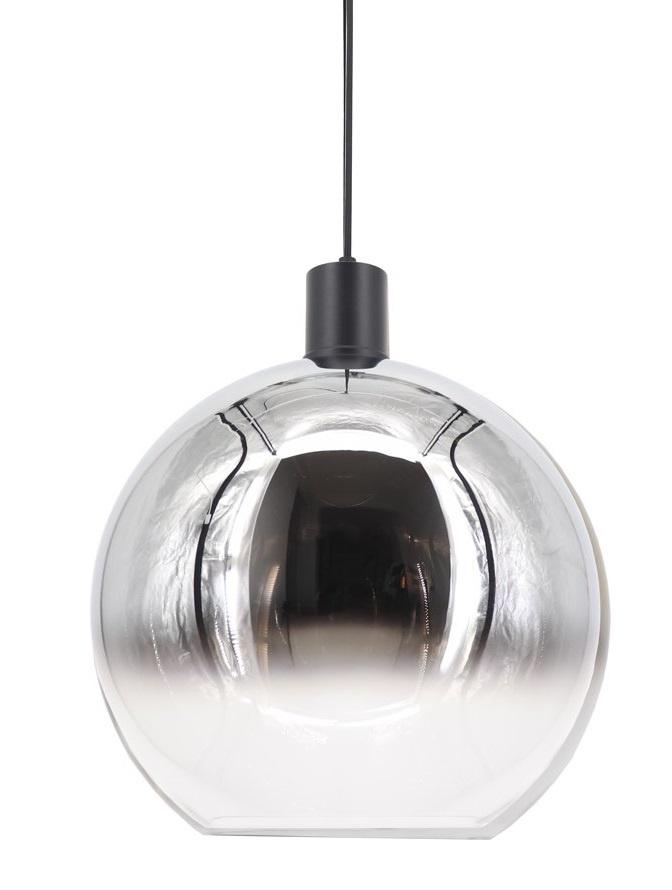 Artdelight Hanglamp Rosario Glas Chroom Helder 30cm