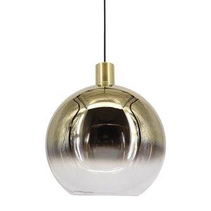Artdelight Hanglamp Rosario Glas Goud & Helder 30cm