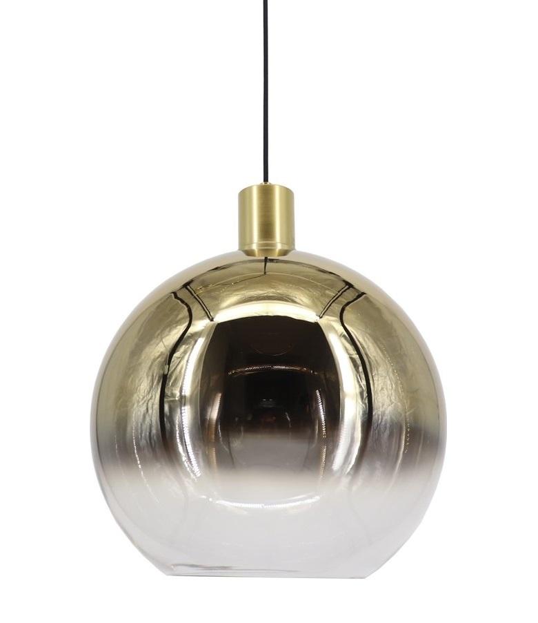 Hanglamp Rosario Glas Goud & Helder 30cm