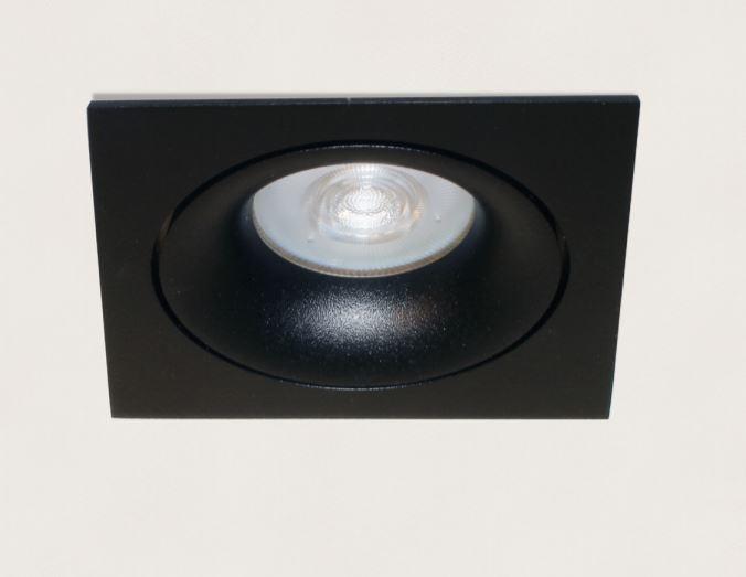 Inbouwspot Vierkant Kantelbaar Zwart GU-10