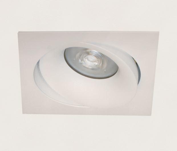 Artdelight Inbouwspot Vierkant Kantelbaar Wit GU-10