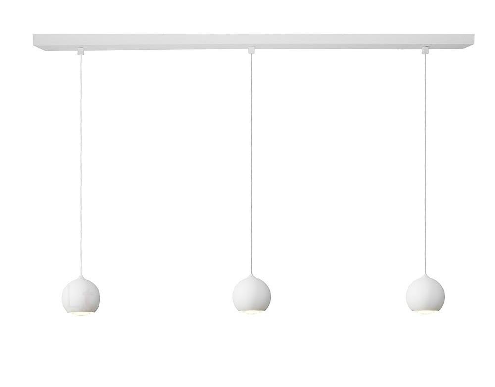 Hanglamp LED Denver Mat Wit � 10cm 3 Lichts