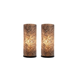 Tafellamp Wangi Gold 30cm 2 Stuks