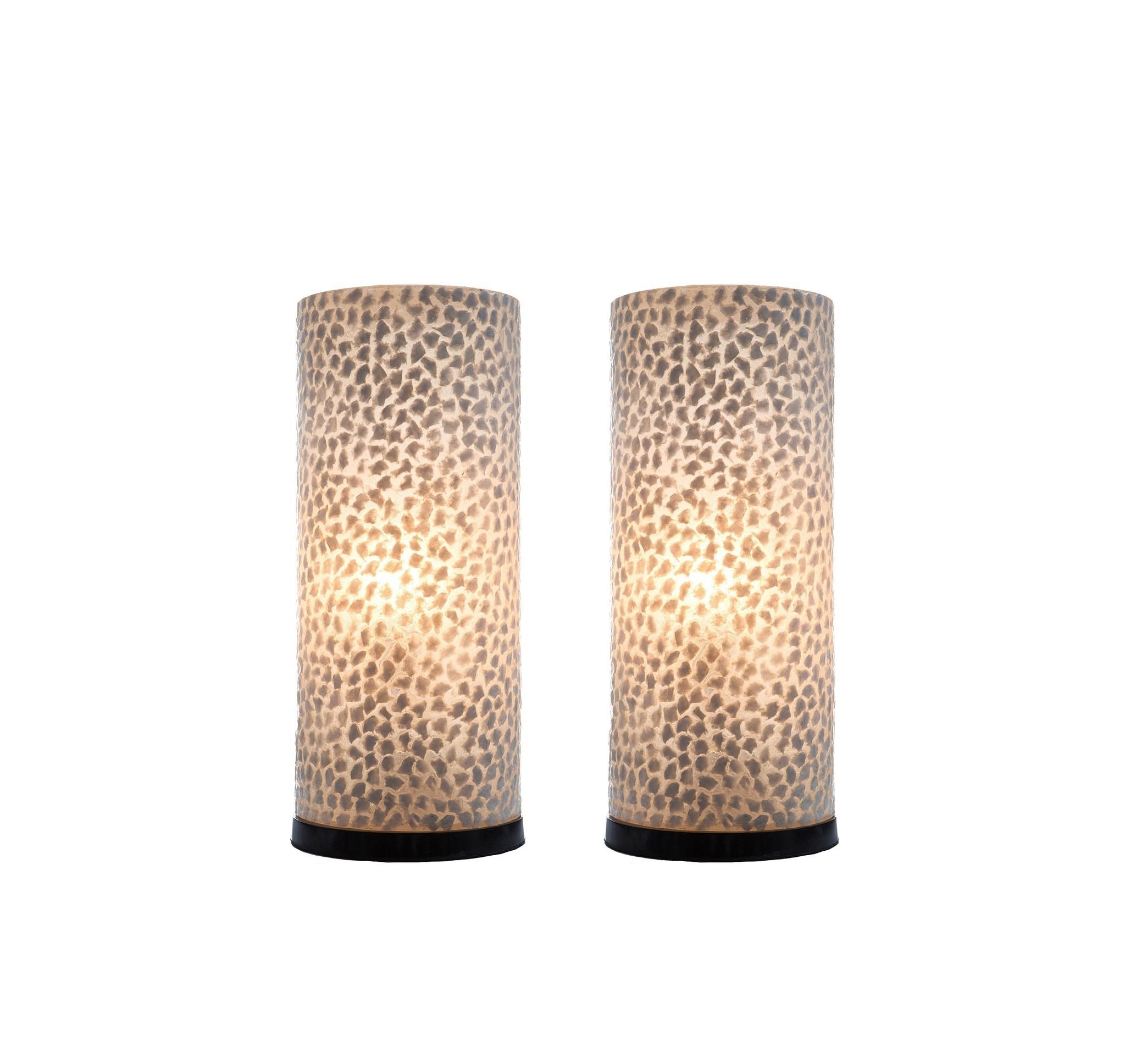 Tafellamp Wangi White 30cm 2 Stuks