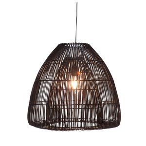 Hanglamp Rottan Bell Black 50cm