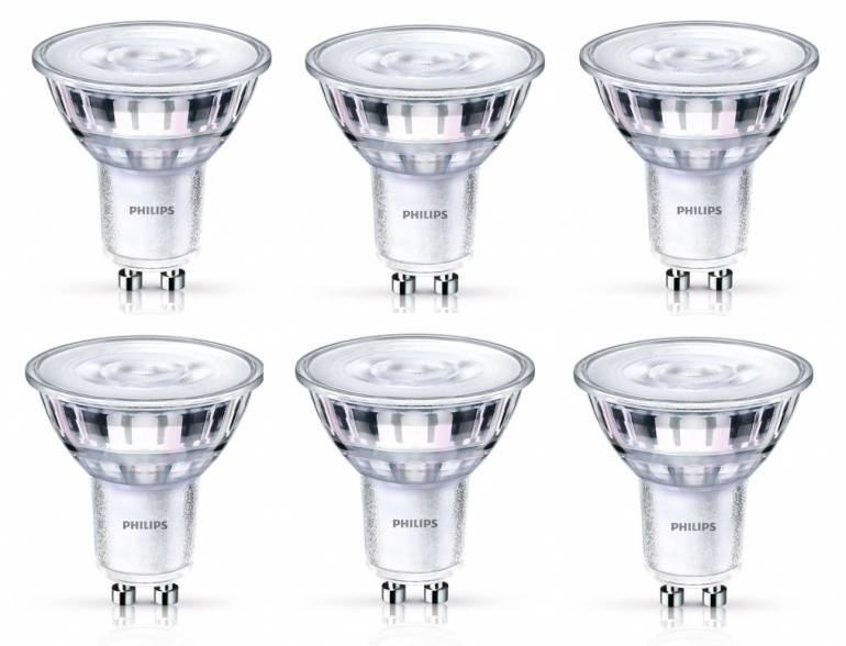 Philips GU10 3.8Watt LED lamp Warm Glow 6 Stuks