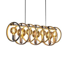 Hanglamp  Circular Old Silver 112cm 7Lichts