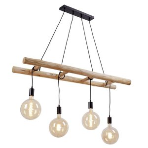 Hanglamp Stairs Hout 120cm 4 Lichts