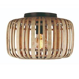 Plafondlamp Treccia Mat Zwart & Rotan 34cm