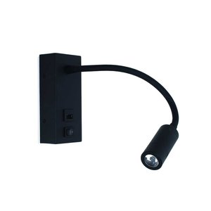Wandlamp Easy LED USB Zwart