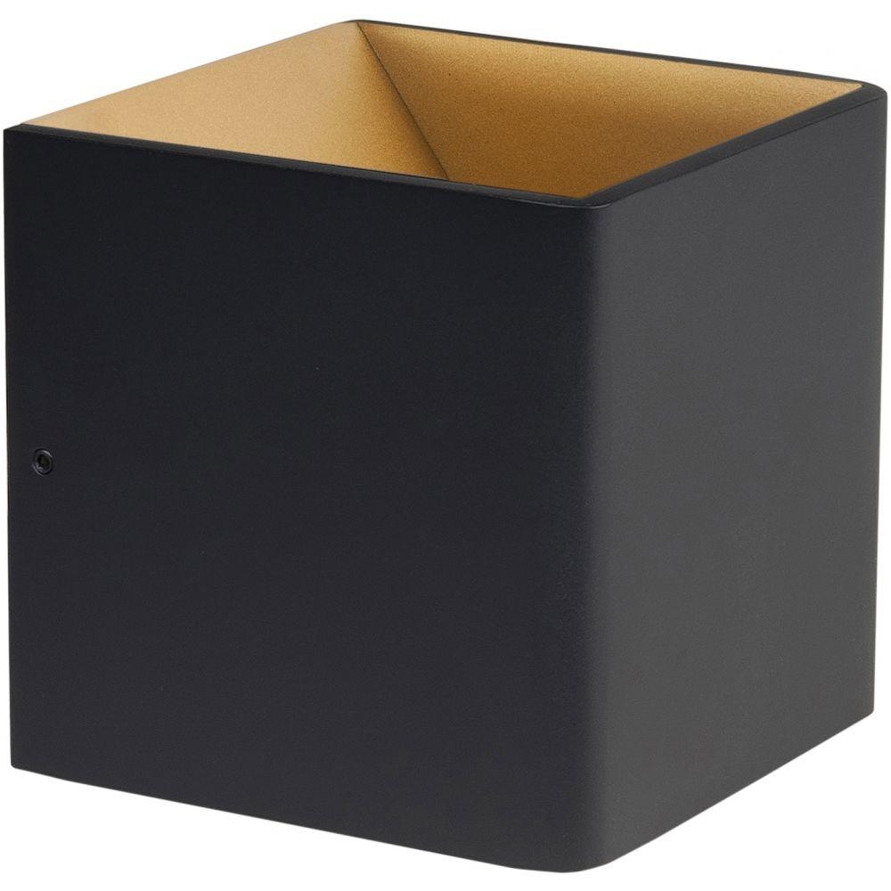 Wandlamp Stretto Zwart Goud 10 x 10cm Led