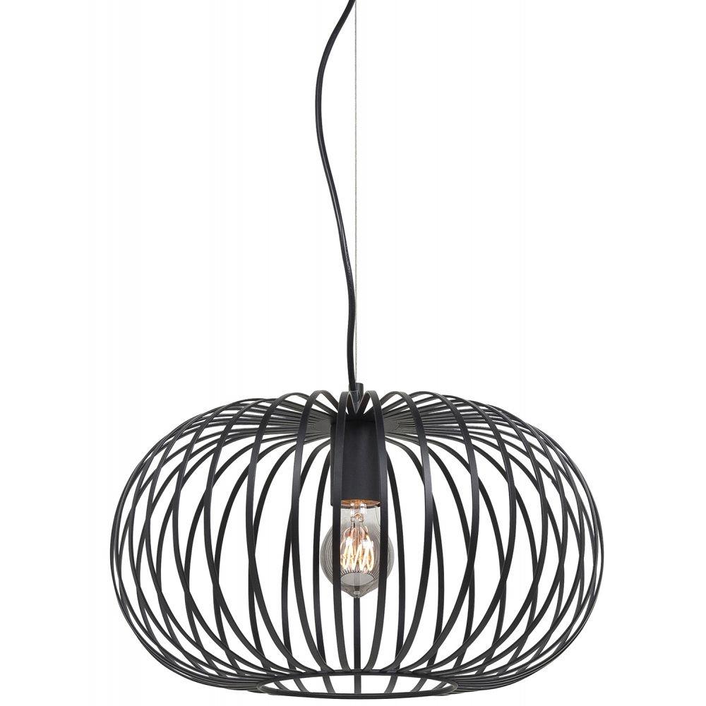 Hanglamp Bolato Zwart 40cm