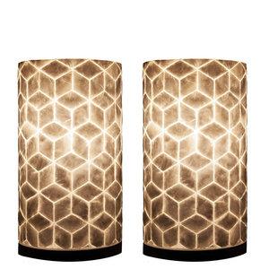 Tafellamp Cube 30cm 2 Stuks