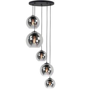 Hanglamp Balloon Smoke Glas 5Lichts 160cm