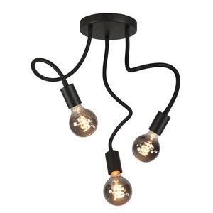 Plafondlamp Flex Zwart Mat Zwart 50cm 3 Lichts