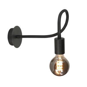 Wandlamp Flex Zwart Mat Zwart 50cm