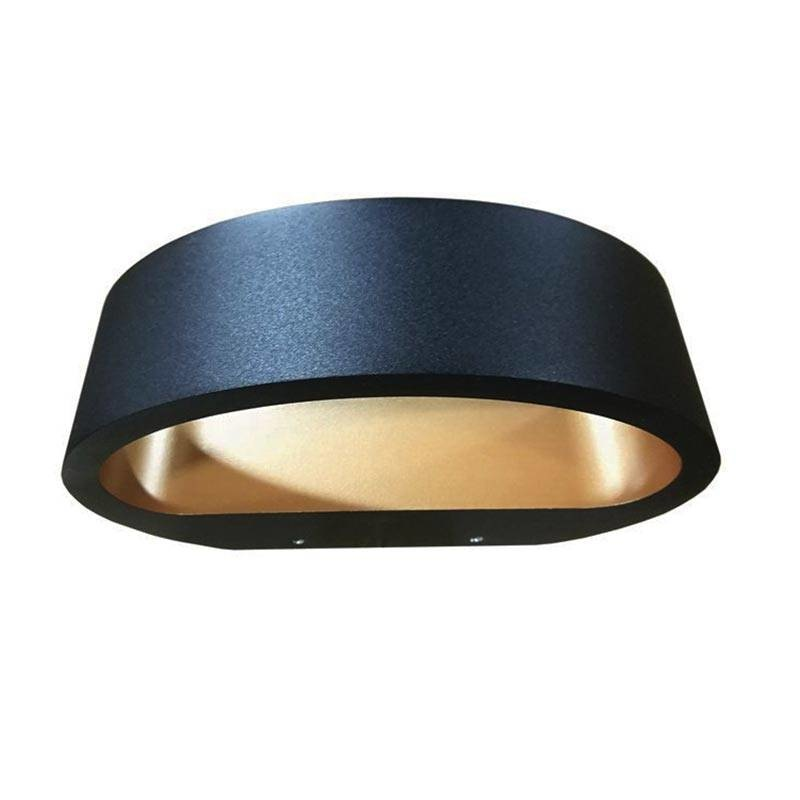 Artdelight Wandlamp Sharp Led Zwart Goud IP54