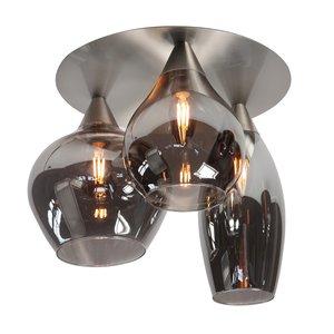 Plafondlamp Cambio Smoke Glas 32cm Ø