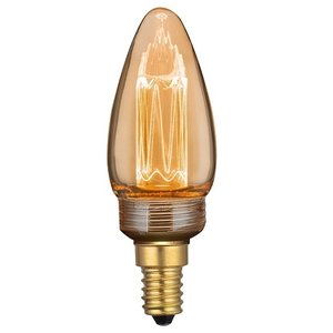 E14 2Watt Led Gold 35mm incl. Stappen Dimmer