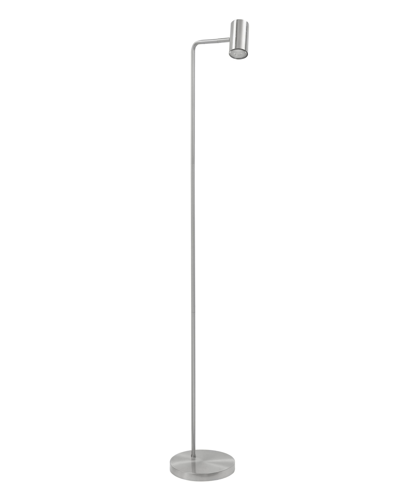 Vloerlamp Burgos RVS 1 lichts 134cm