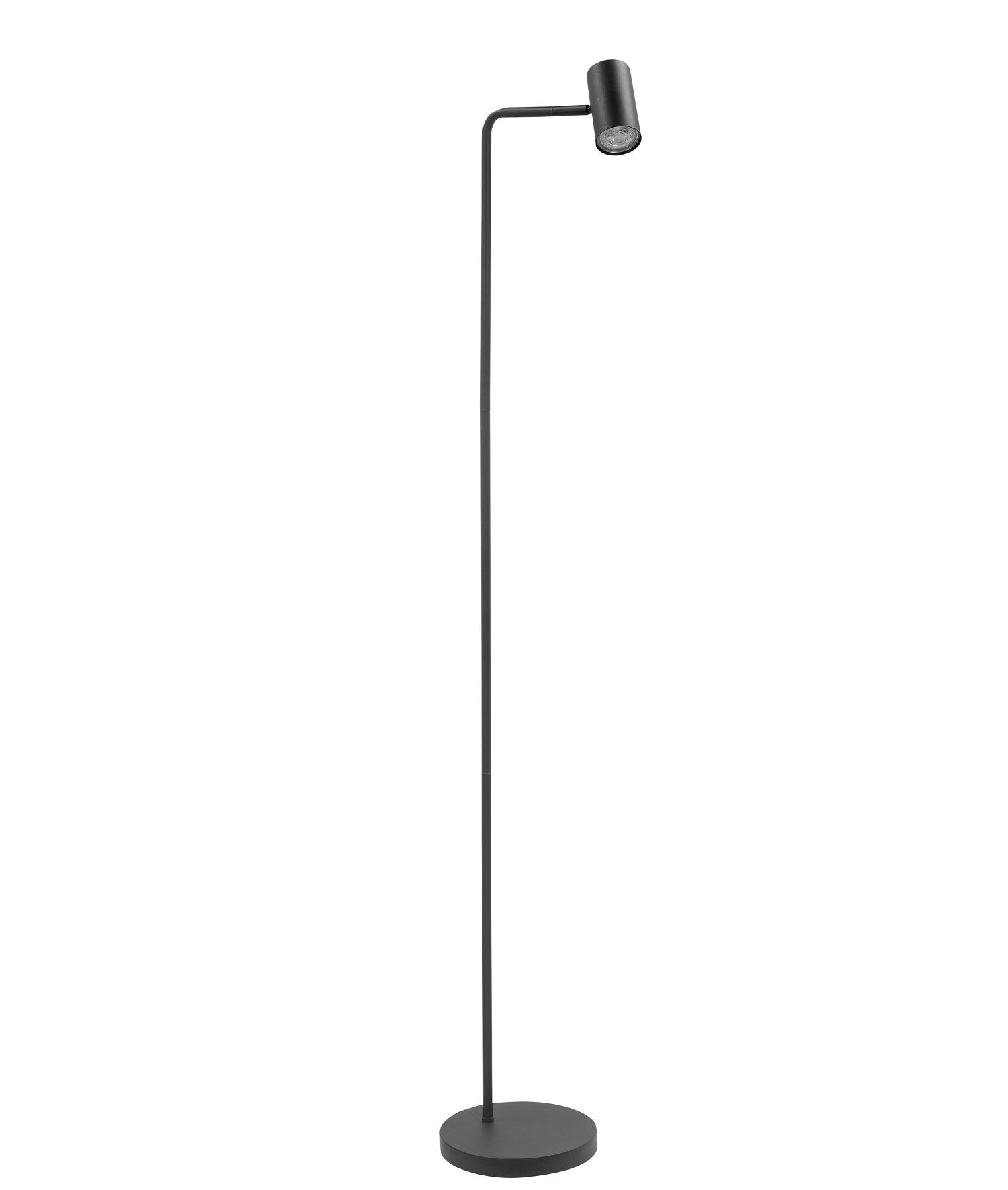 Vloerlamp Burgos Zwart 1 lichts 134cm