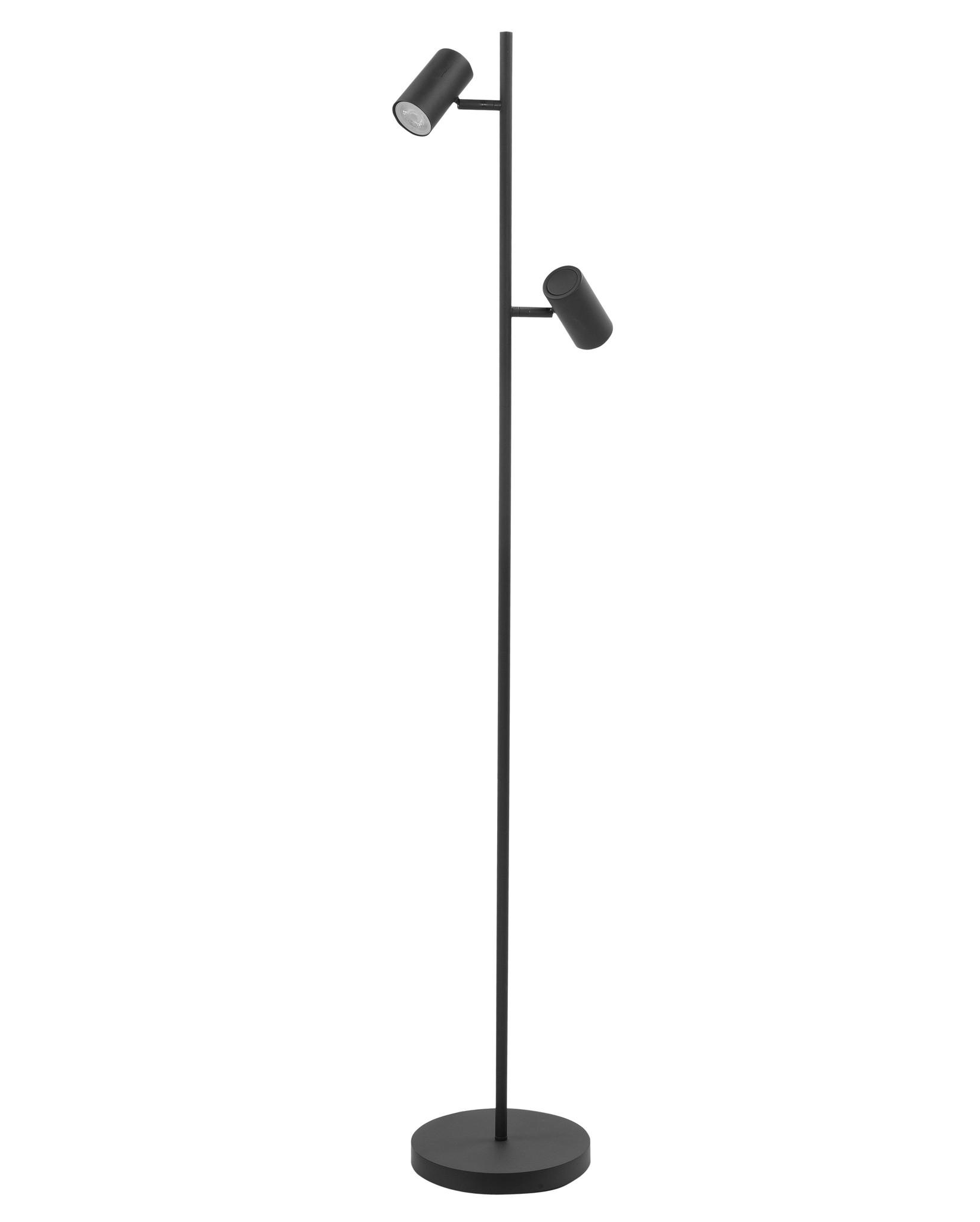 Vloerlamp Burgos Zwart 2 lichts 142cm