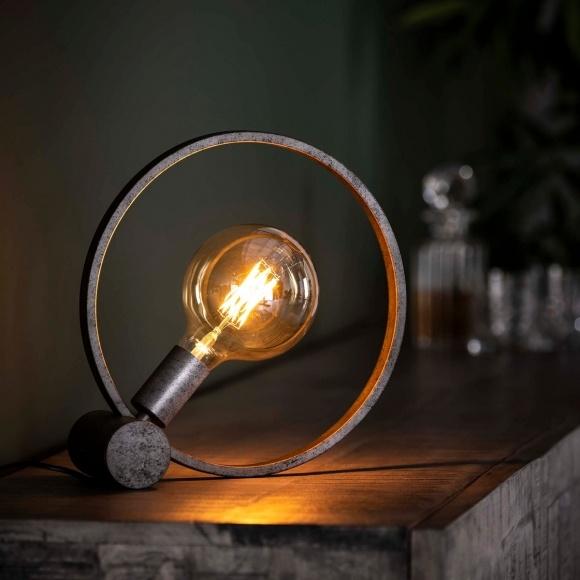 Tafellamp Circular Old Silver 30cm Ø