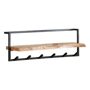 Kapstok Edge 6 Haken Boomstam Plank
