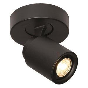 Spot Razza Mat Zwart 1 lichts  GU10