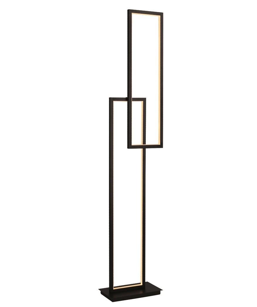 Vloerlamp Retto 2 Mat Zwart Led 151cm