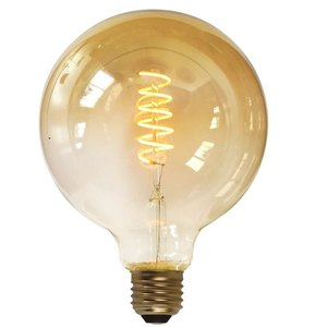 E27 7Watt Led Gold 125mm incl. Stappen Dimmer
