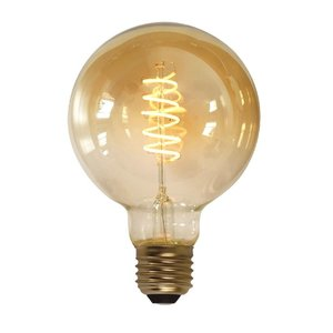 E27 7Watt Led Gold 95mm incl. Stappen Dimmer