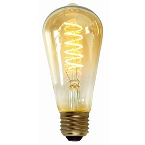 E27 7Watt Led Gold 64mm incl. Stappen Dimmer