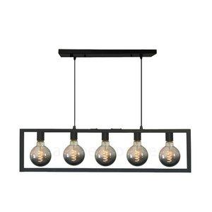 Hanglamp Distesa Mat Zwart 120cm 5Lichts