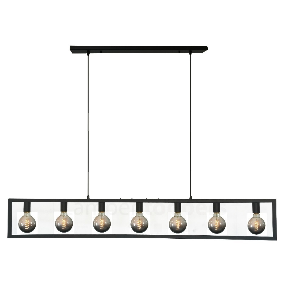 Hanglamp Distesa Mat Zwart 165cm 7Lichts