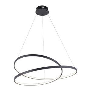 Hanglamp Rowan Zwart 72cm incl. Dimmer