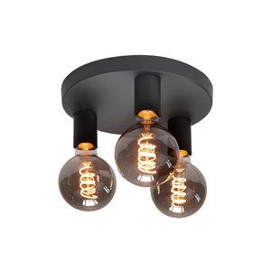 Plafondlamp Basic Zwart 3 lichts Ø 25 cm E27