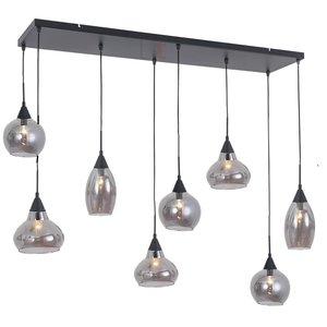 Hanglamp Macchia Zwart & Smoke Glas