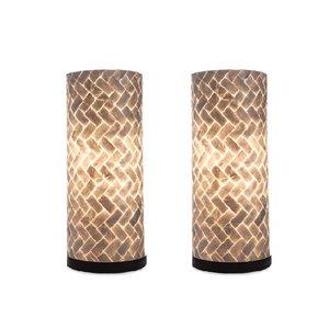Tafellamp Zigzag 30cm 2 Stuks