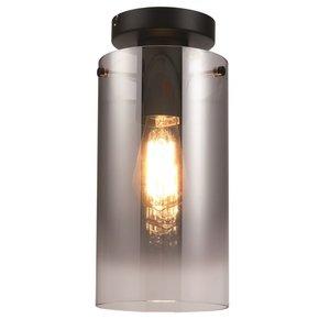 Plafondlamp Ventotto Zwart & Smoke Glas 15cm Ø