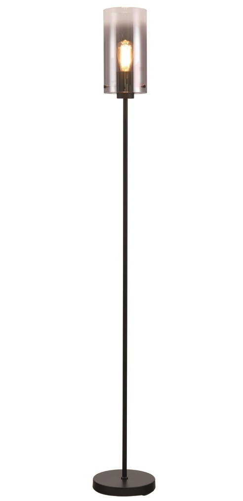 Vloerlamp Ventotto Zwart & Smoke Glas 166cm