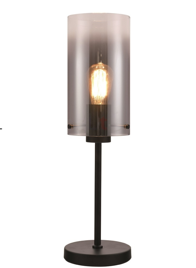 Tafellamp Ventotto Zwart & Smoke Glas 58cm